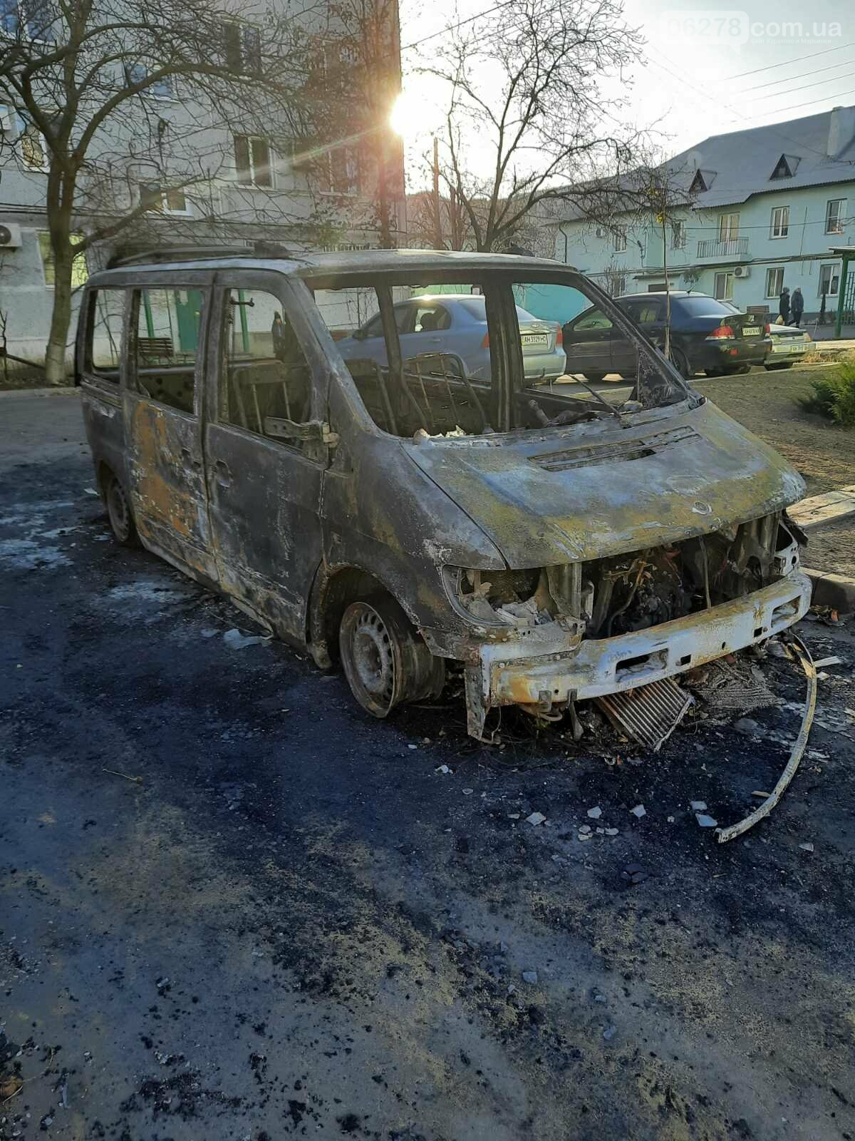 В Курахово сгорел автомобиль, Сайт Курахово