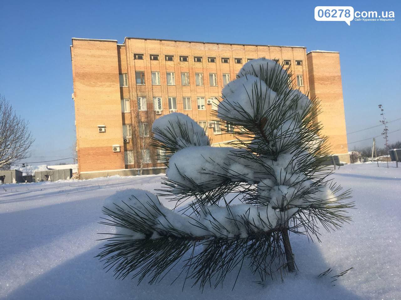 Зима в Марьинке 18 января, Сайт Марьинки и Курахово